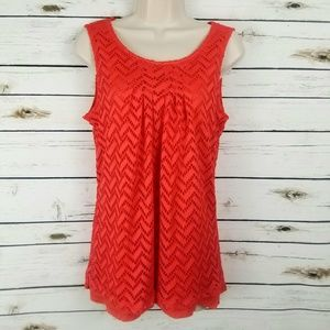 OSO Casuals Orange Small Top Lined Sleeveless
